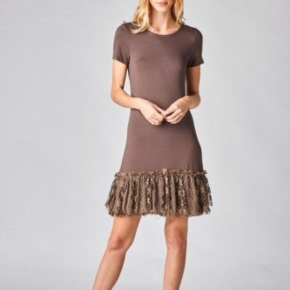 91fb55b364c3 ODDY Dresses   Ladies Mocha Short Sleeve Slip Dress Extender   Poshmark